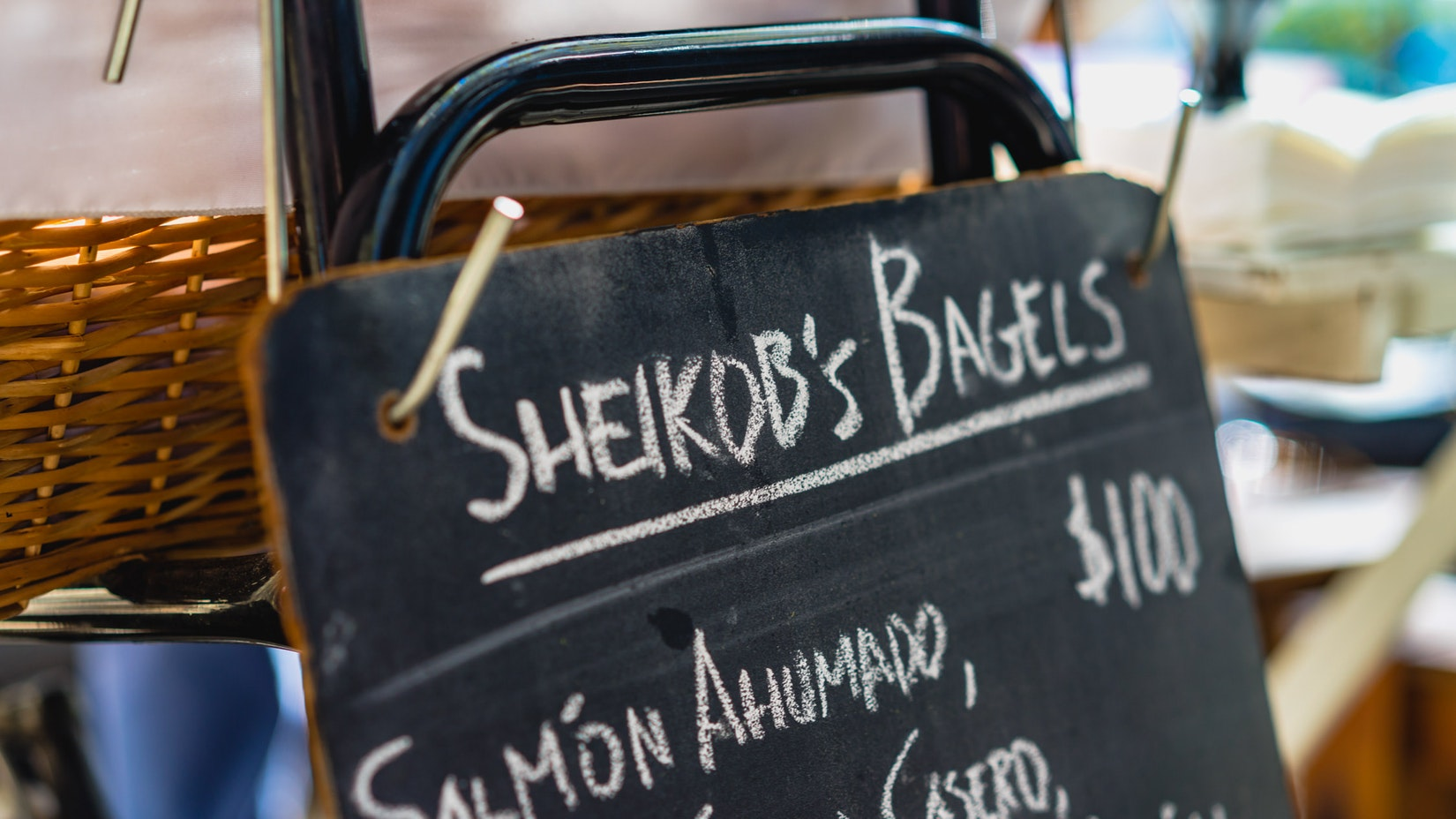 Sheikob's Bagel sign in Buenos Aires