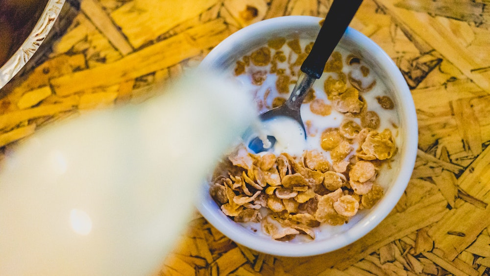 Cereal for breakfast in 531 hostel in Cordoba