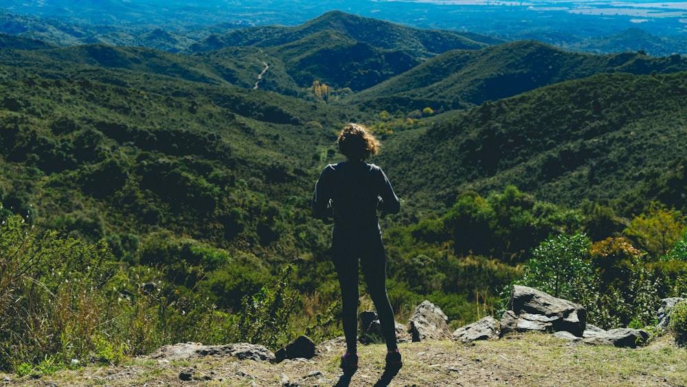 Dan looking at a view point near Mina Clavero