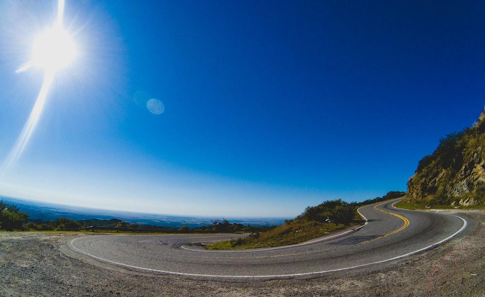 An empty road near Mina Clavero