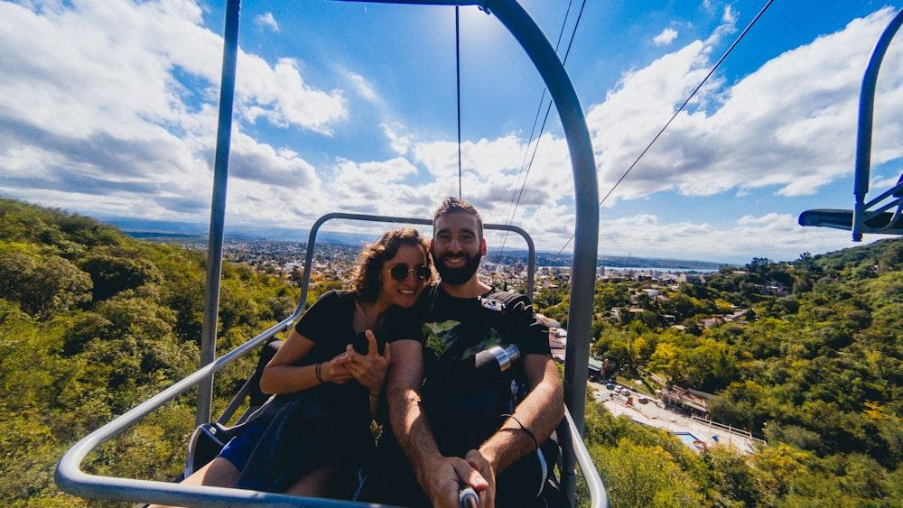 Becca and Dan taking the Aerosilla