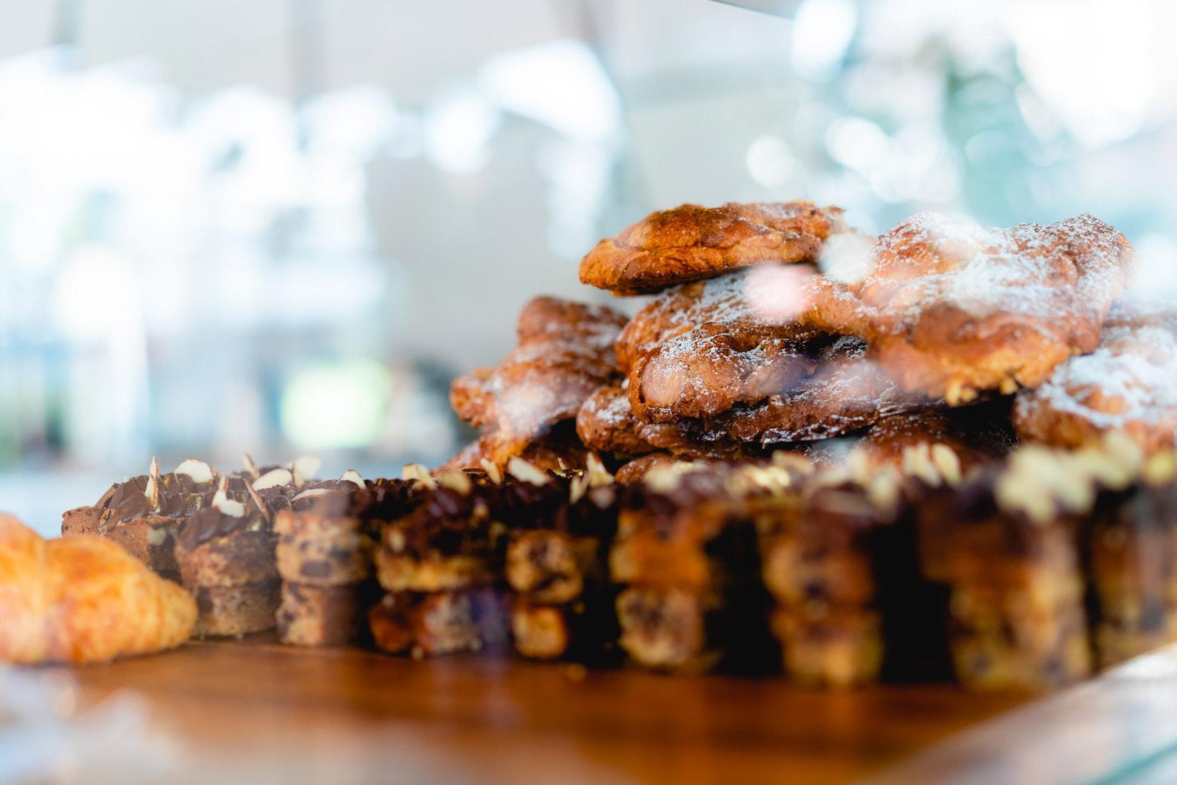 Baked goods at Azahar cafe