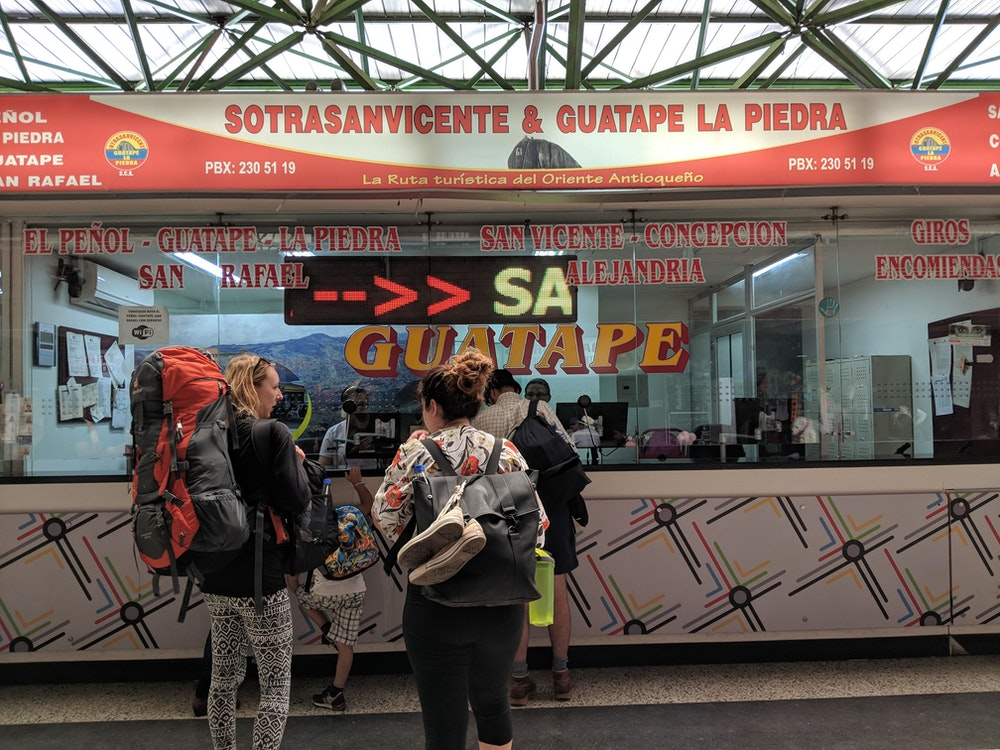 Bus from Medellin to Guatape, Colombia