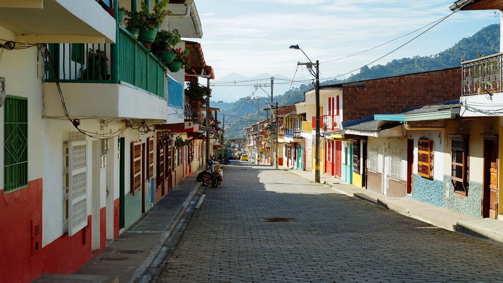 The streets of Jardin, Colombia