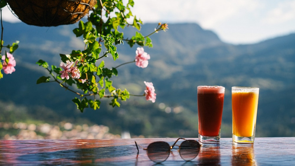 Two juices in Jardin, Colombia