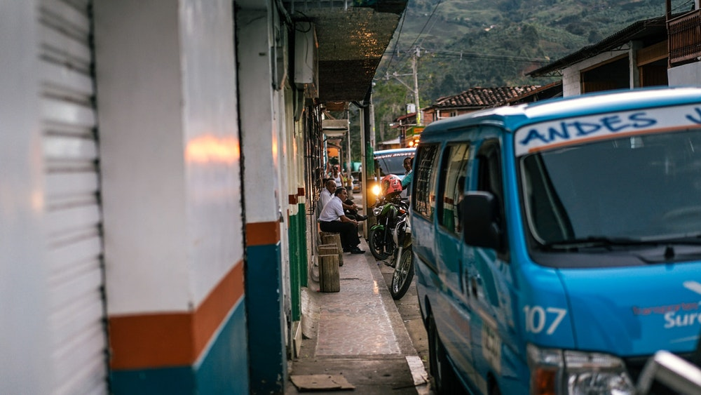 Around the bus station in Jardin, Colombia