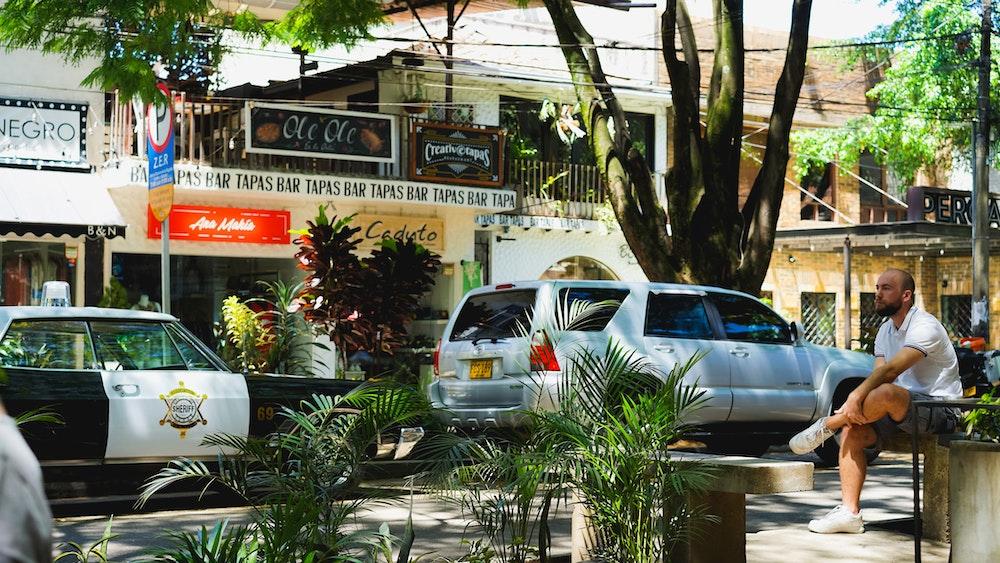 The El Poblado neighborhood in Medellin Colombia
