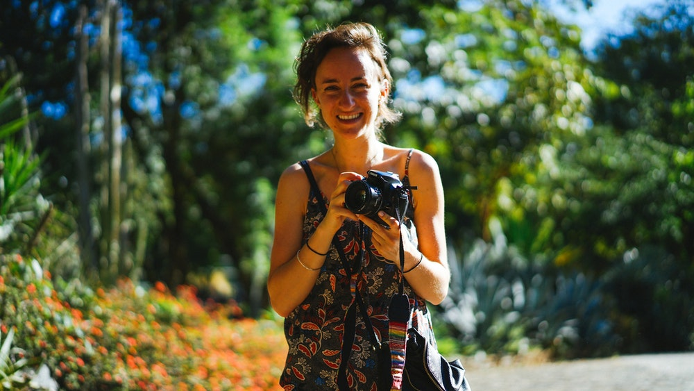 Becca at the botanical Garden in Medellin Colombia