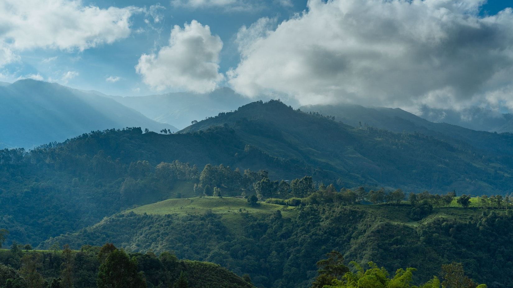 Mountain view in Salento, Colombia