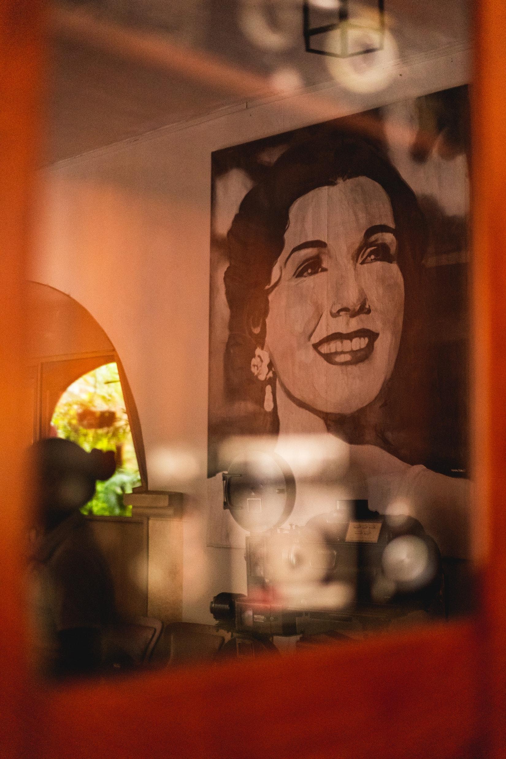 Vintage artwork at Hotel Mariscal Robledo