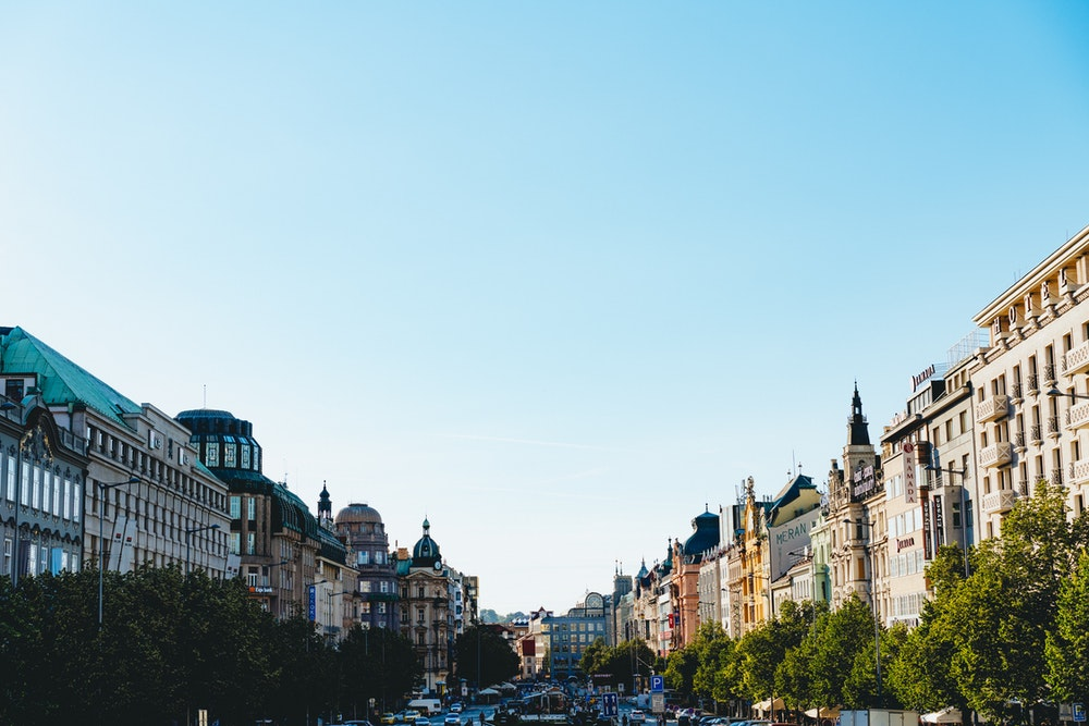View of Prague's main street