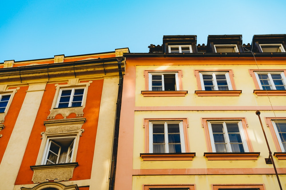 Colored buildings in Old Town Prague