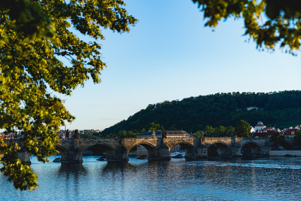 A view of the many bridges in Prague