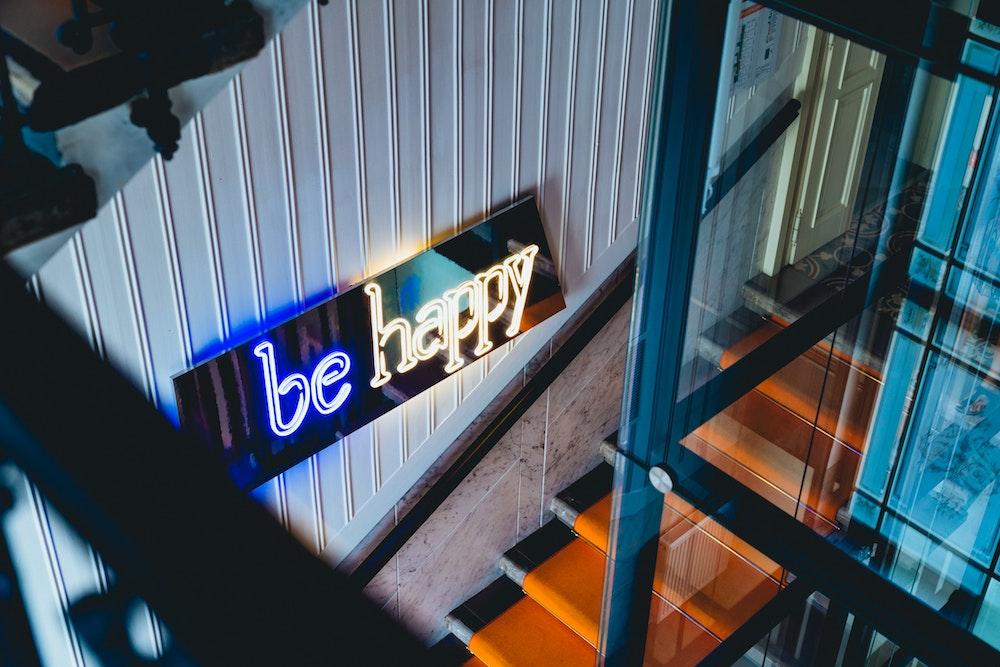 Neon signage at MeetMe23 in Prague