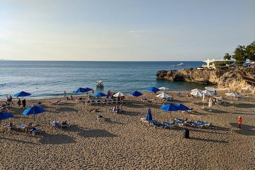 Sosua beach Playa Alicia, Dominik Cumhuriyeti'nde altın saat
