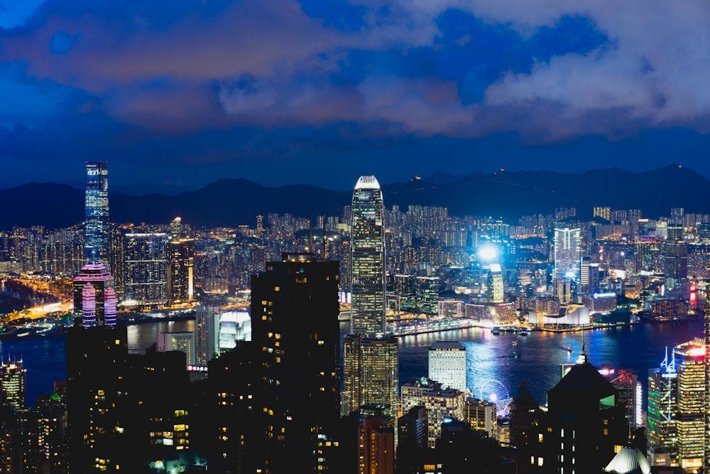 Hong Kong Victoria Peak at night