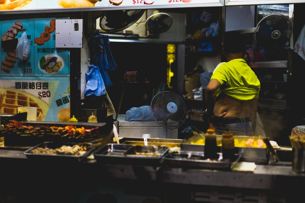 Food for sale on the street in Hong Kong
