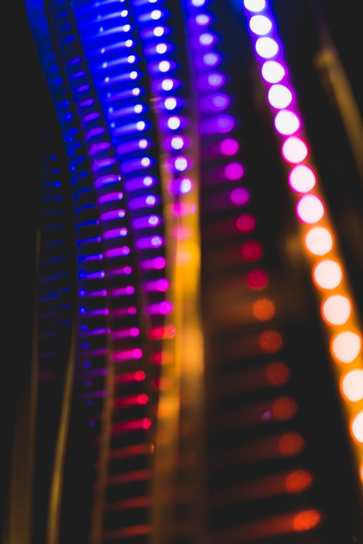 Colorful rainbow LED light strips
