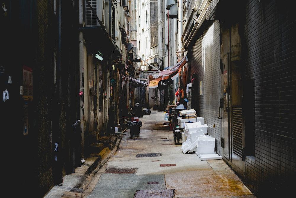 Empty street alley