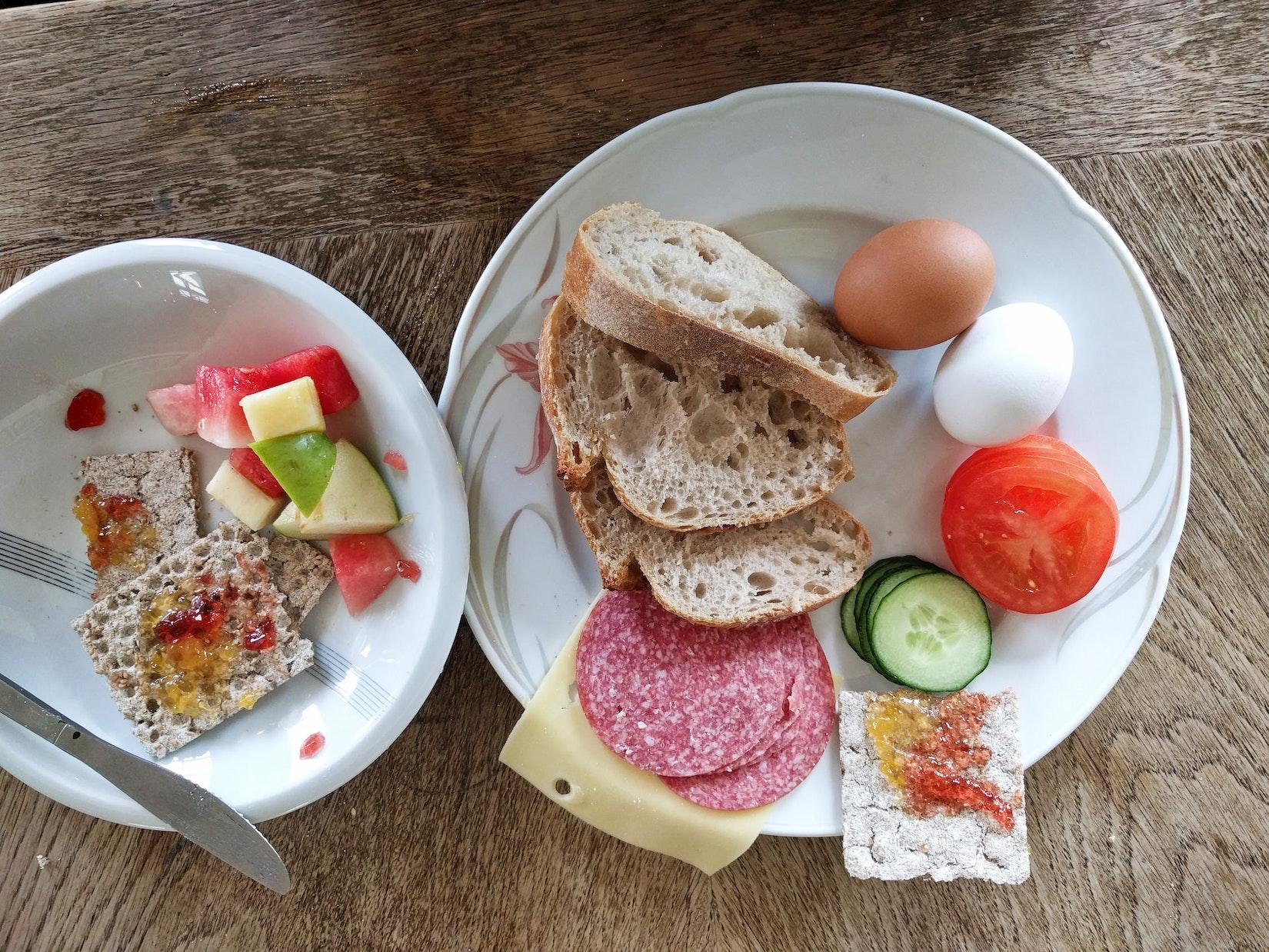 Breakfast at KEX hostel in Iceland