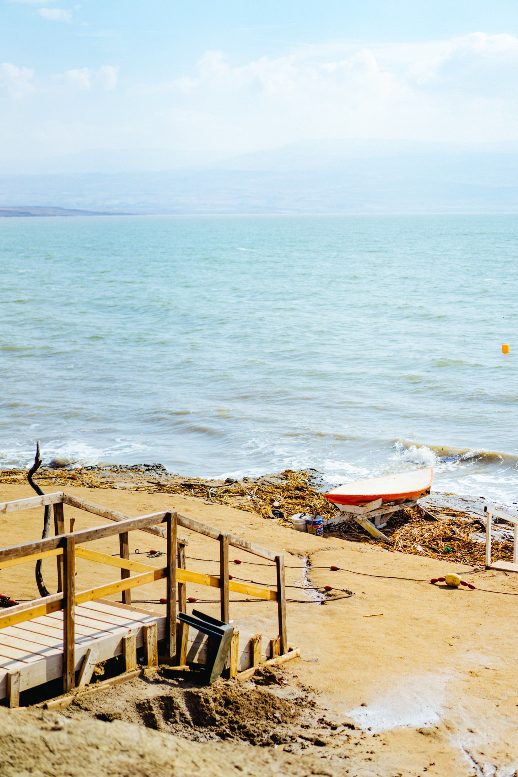 The beach at the Dead Sea