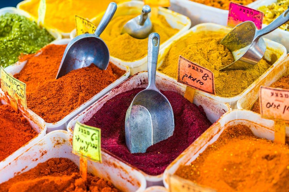 Spices vendor shuk hacarmel carmel shuk tel aviv israel