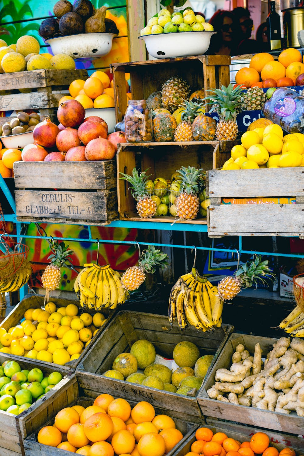 Fruit for sale jaffa market hipster stores Yafo Israel