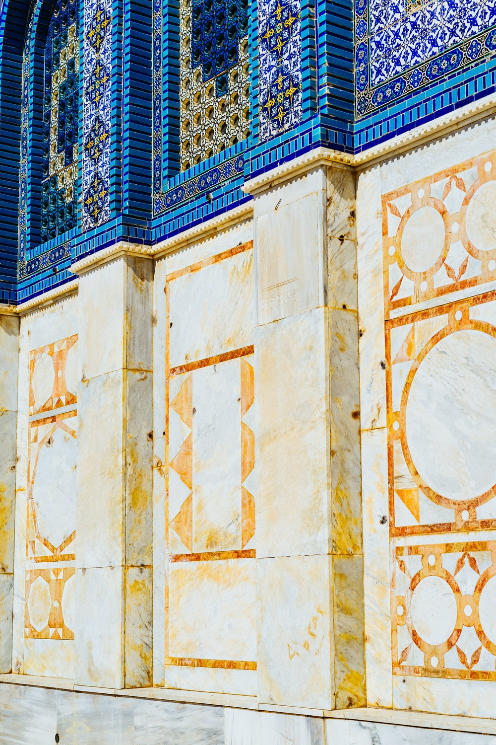 Artistic detail in the walls of the Dome of the Rock in Jerusalem, Israel