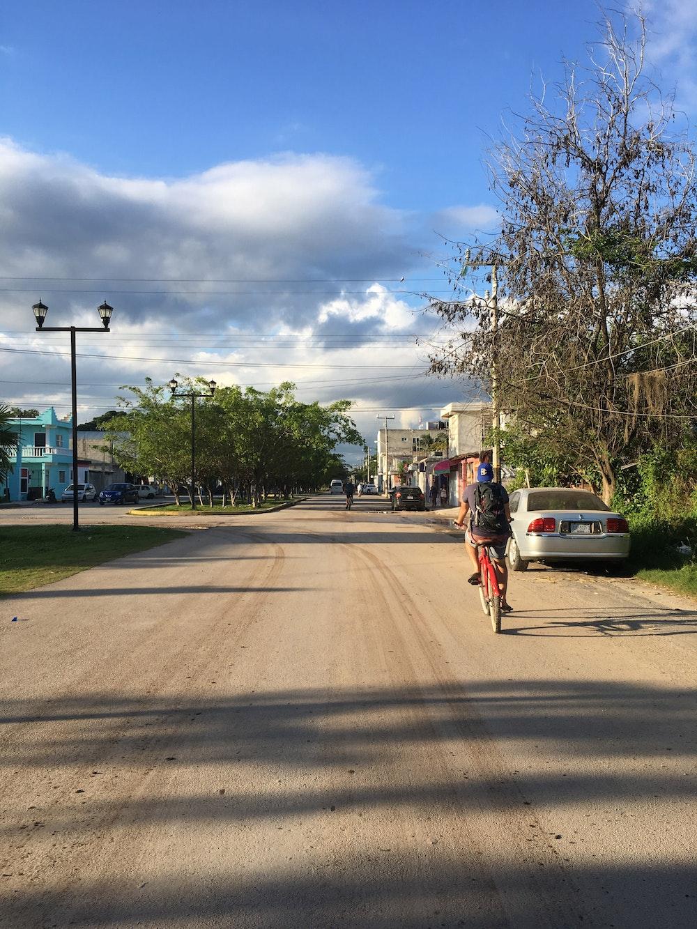 Dan on a bike in Tulum