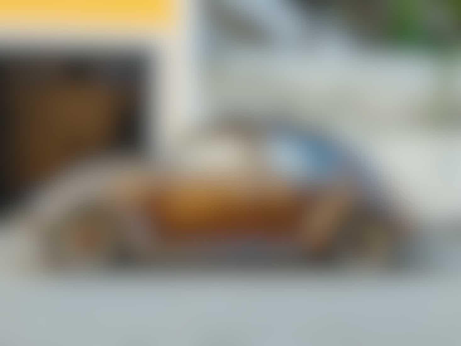 Tan vintage VW Beetle