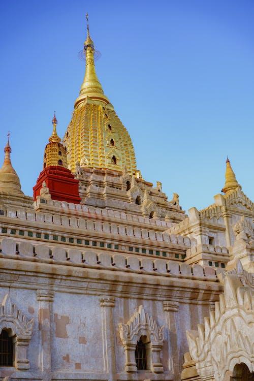 Ananda tapınağı Bagan Myanmar Burma'daki en güzel pagoda