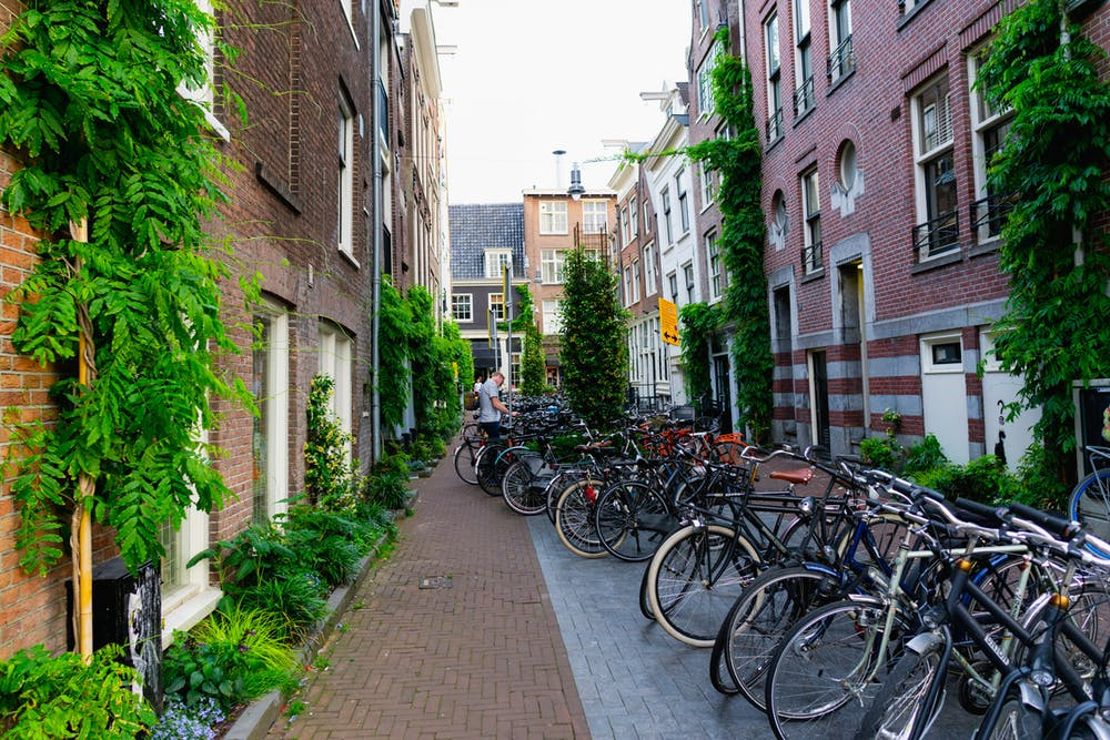 Bike storage in Amsterdam