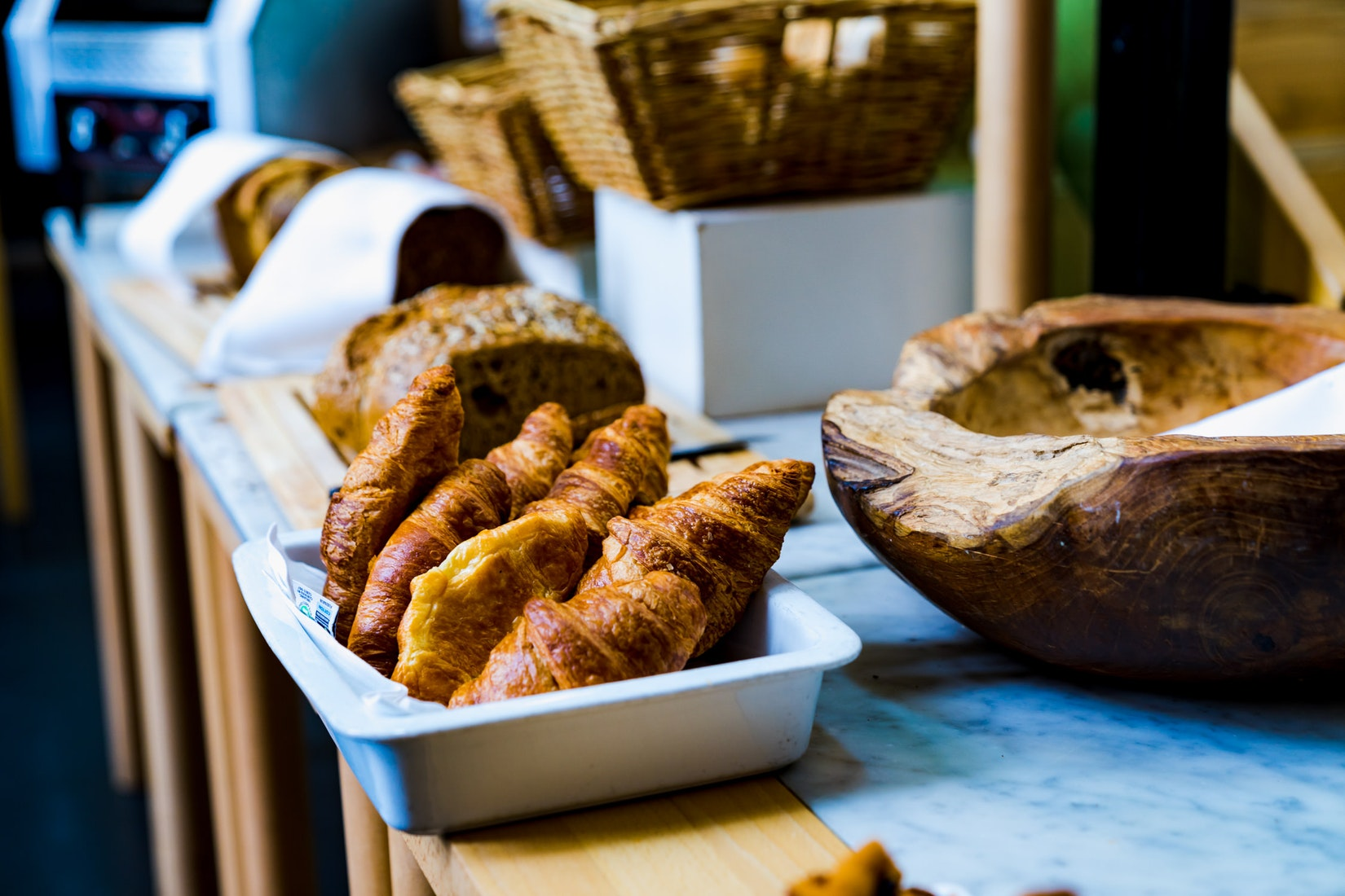 Fresh breads at Lloyd Hotel, Amsterdam