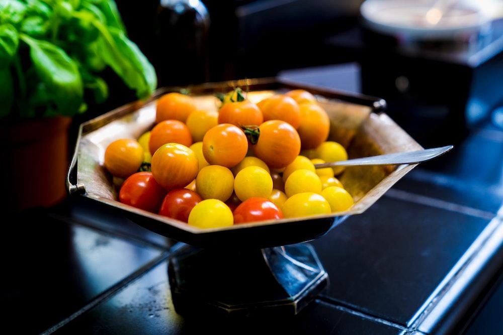 Fresh tomatoes at Lloyd Hotel, Amsterdam