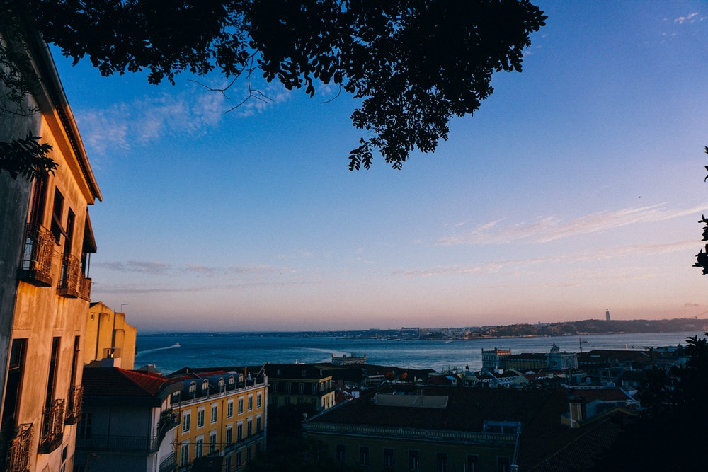 View from Santa Catarina in Lisbon