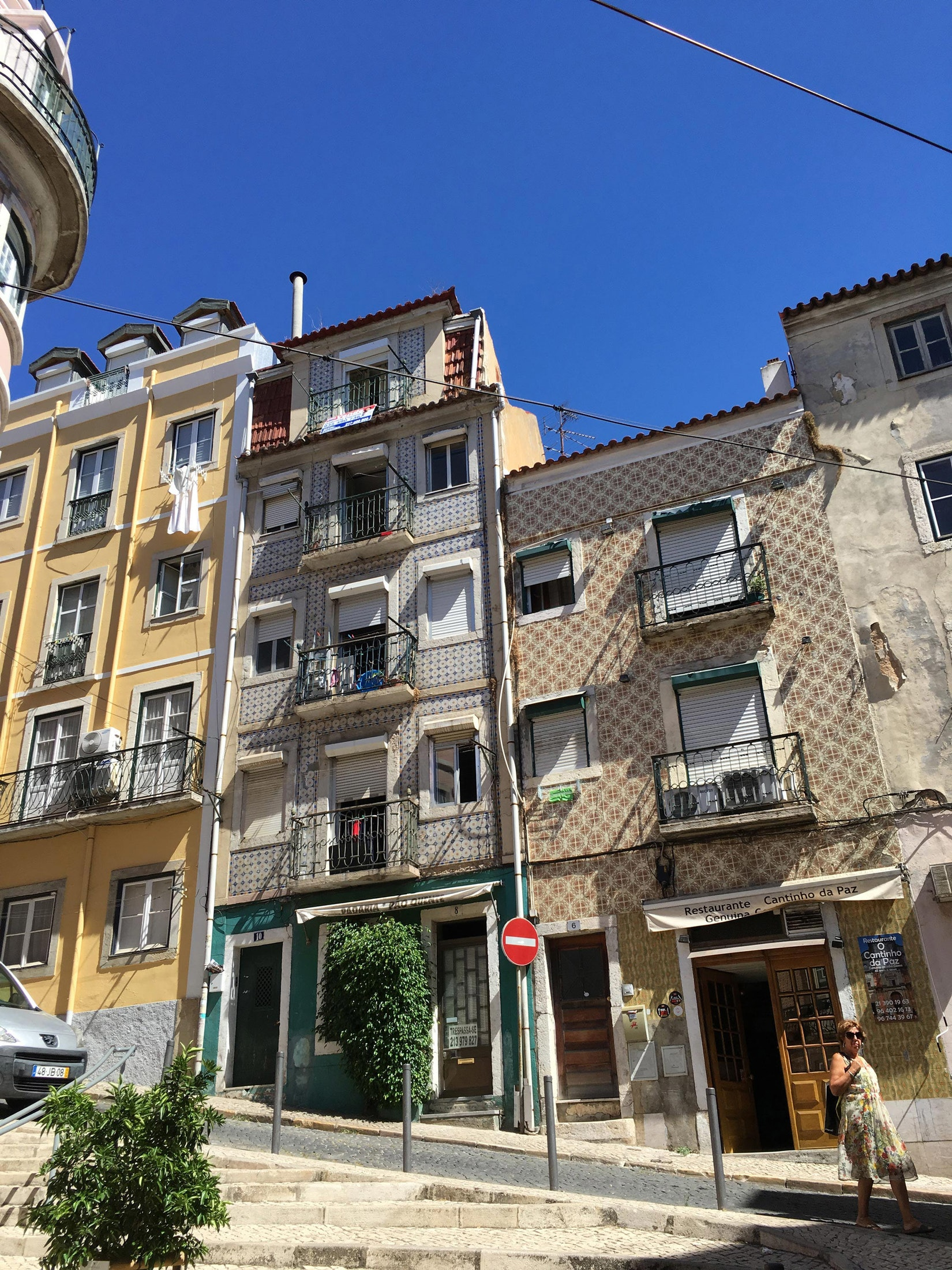 Hilly Lisbon streets
