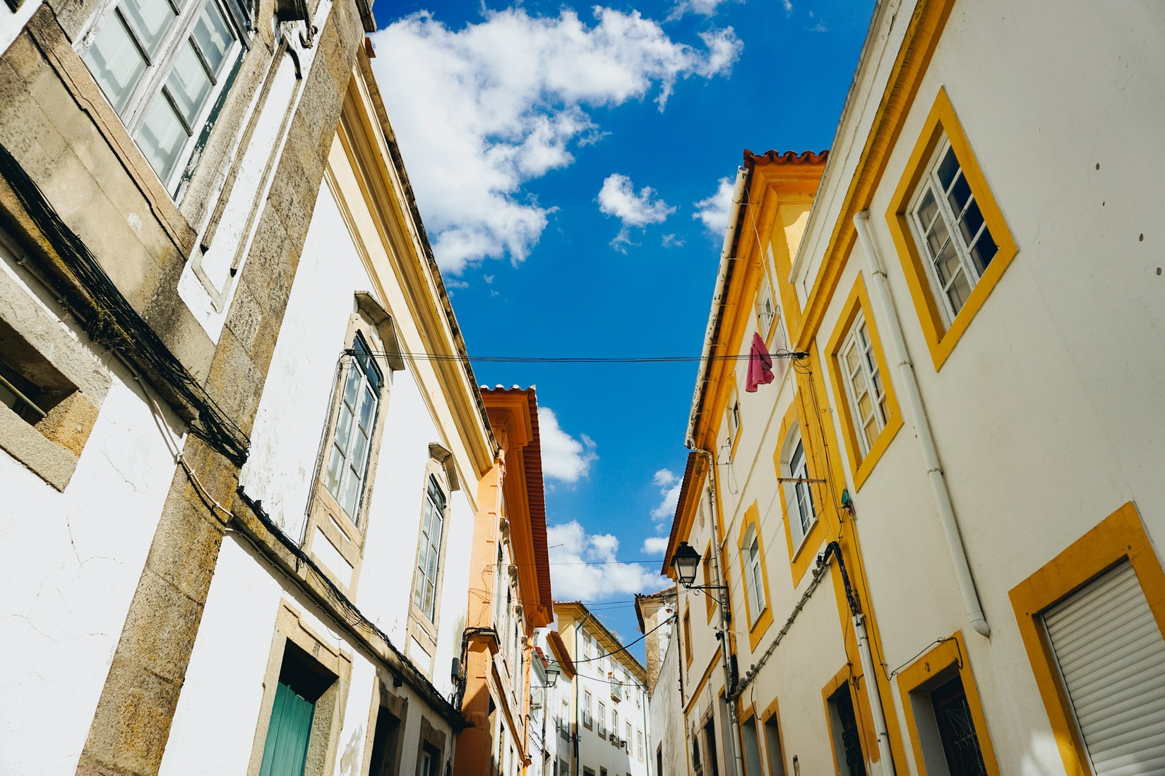White-washed buildings in Portalegre, Portugal