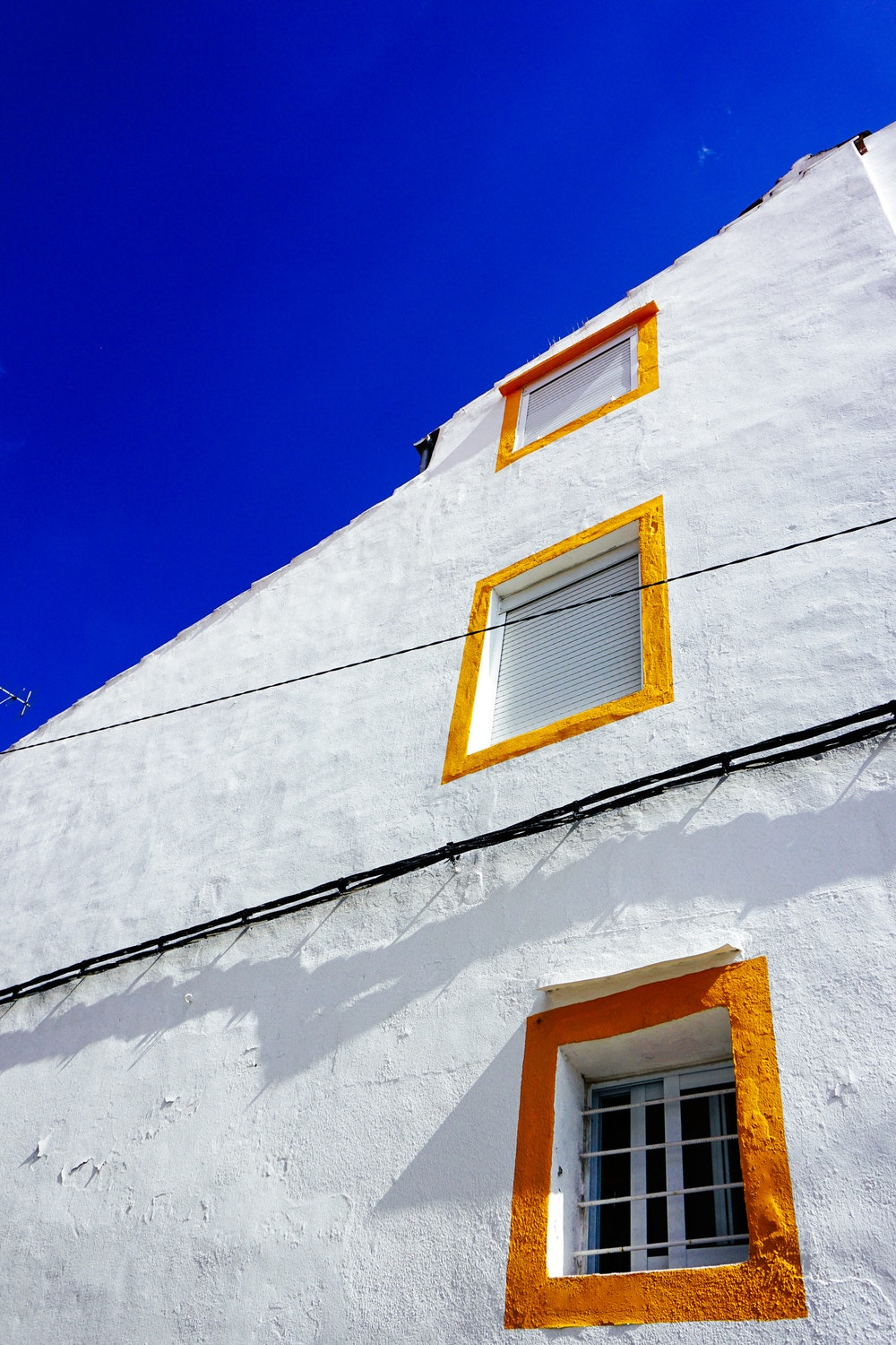 White-washed buildings in Castelo de Vide, Portugal