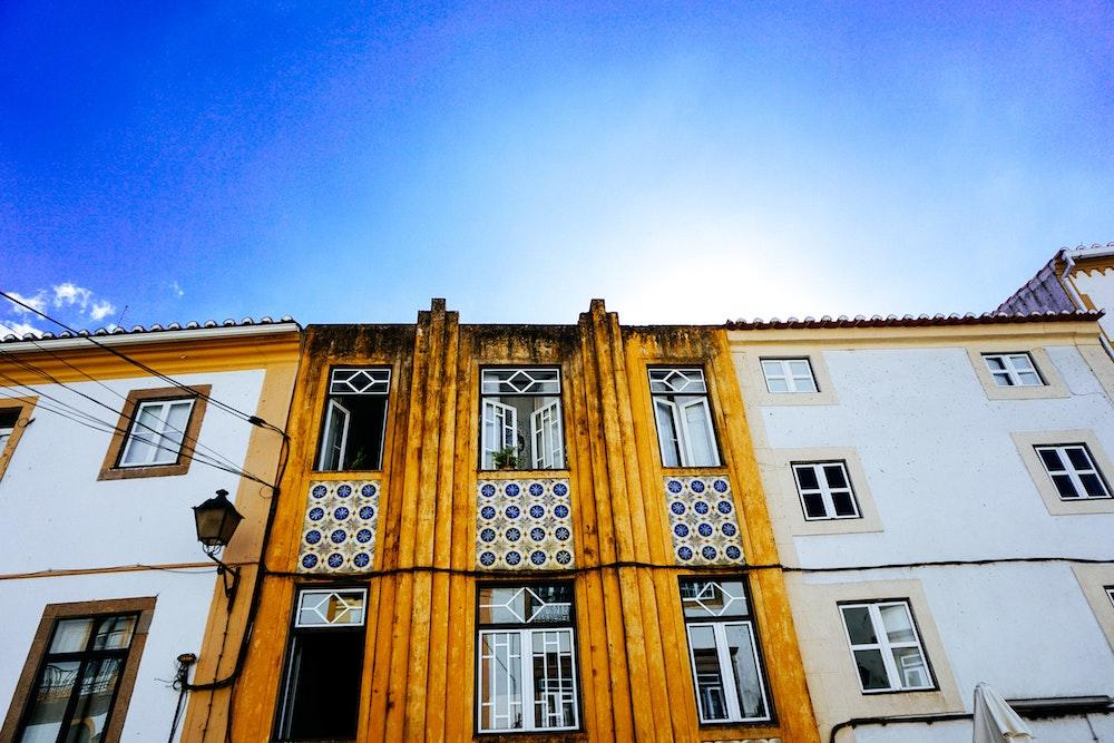 Art deco architecture in Castelo de Vide, Portugal