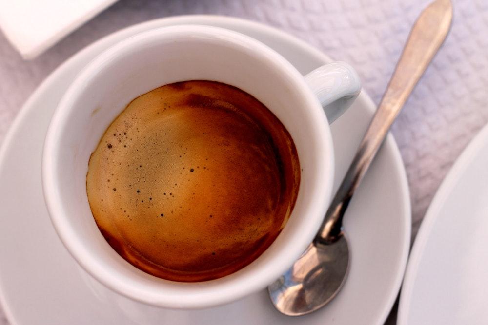 Coffee at a cafe in Portalegre, Portugal