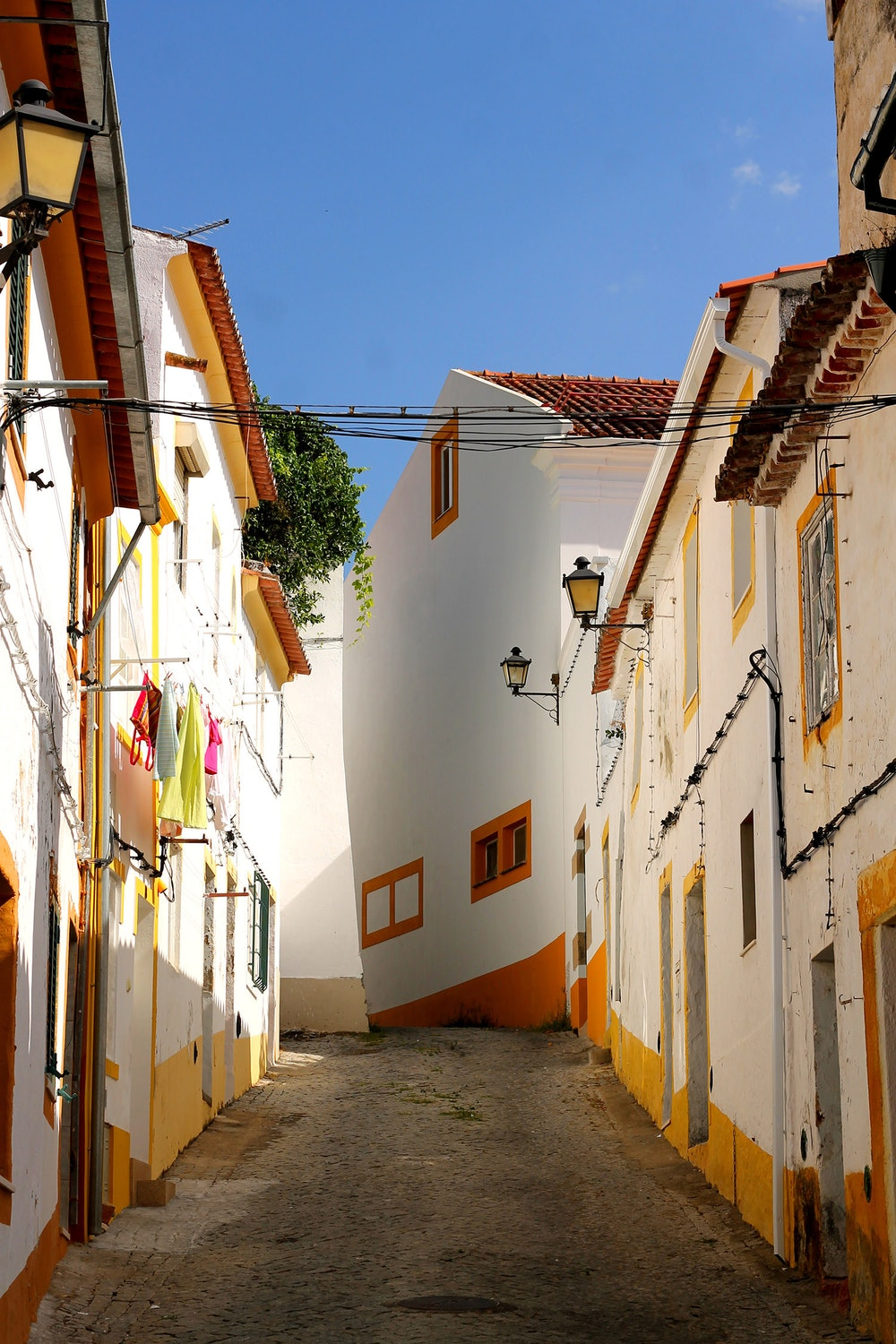 A quite street with no cars in Portalegre