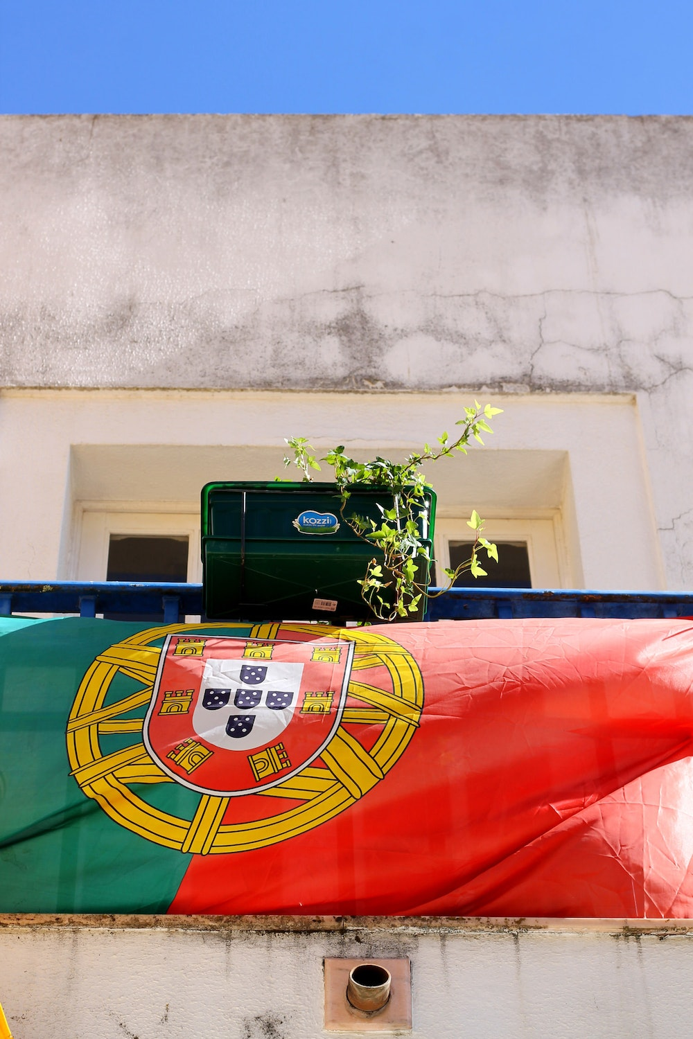 The flag of Portugal