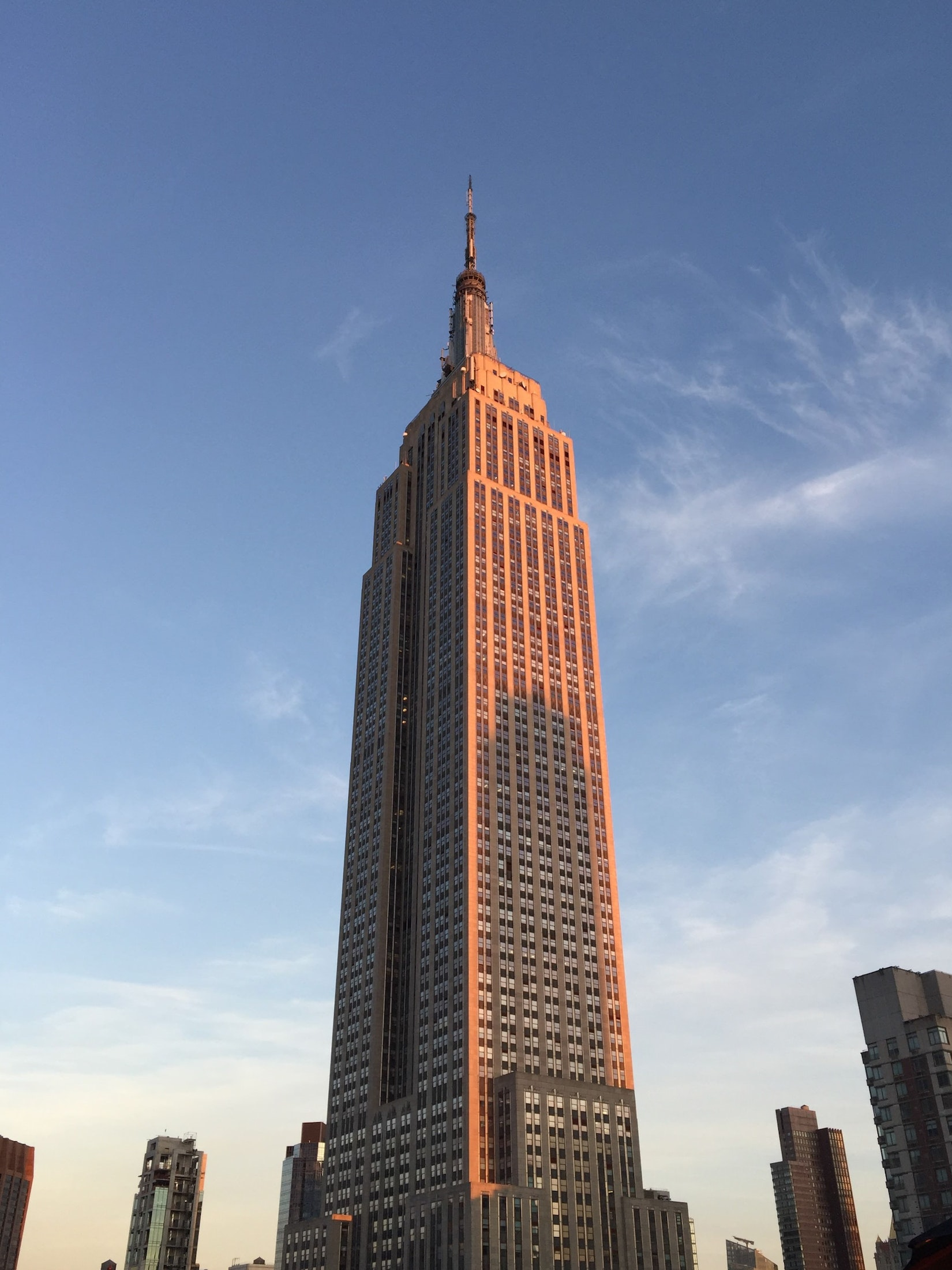 Empire State Building half from Becca in New York City