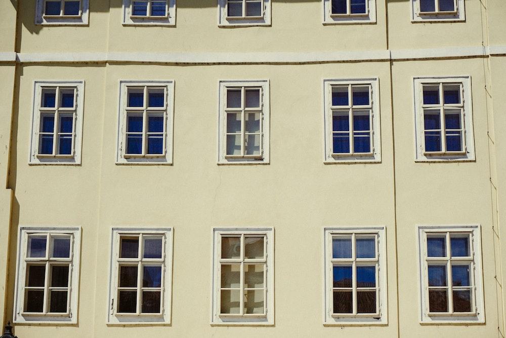 White building taken by Dan in Prague