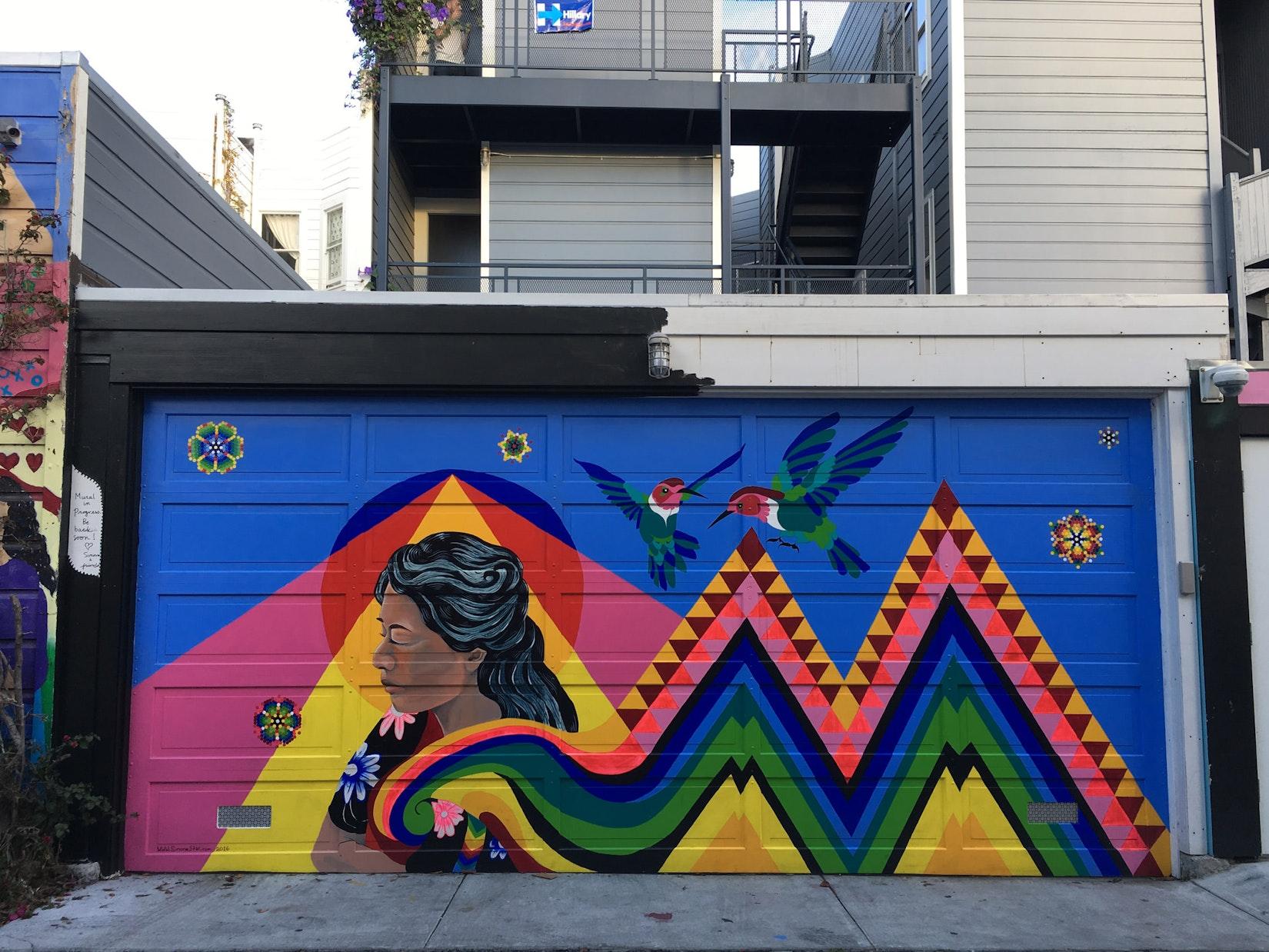 Mural in Balmy Alley in San Francisco