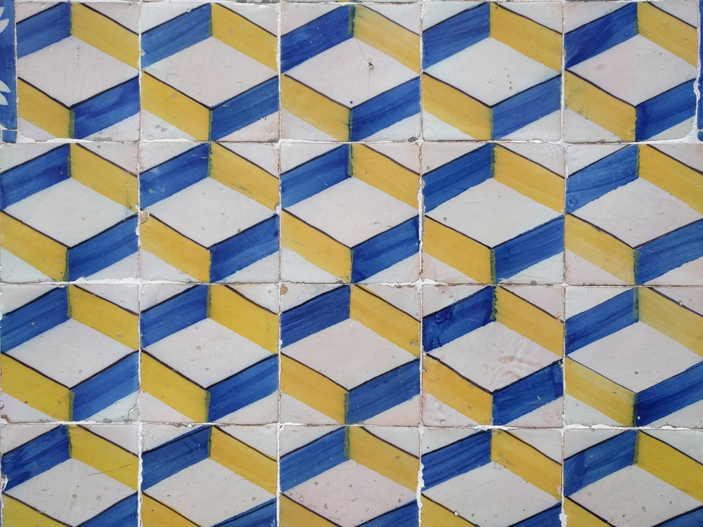 Tiles on a building in Portugal