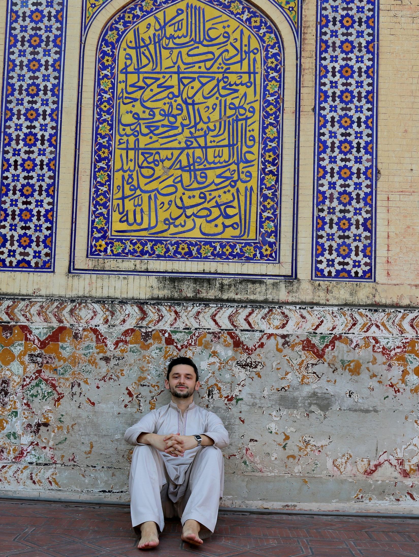Daniel during his travels in Lahore, Pakistan