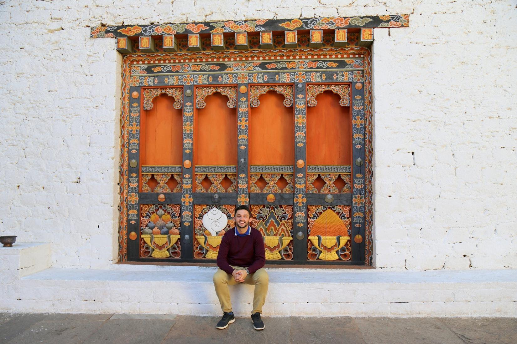 Daniel on his trip to Bhutan