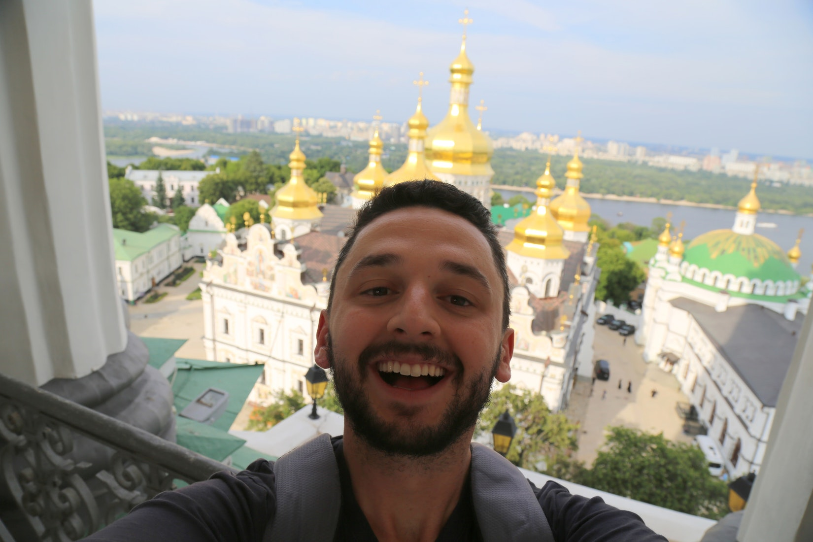 Daniel with a shot of awesome architecture in Kiev, Ukraine
