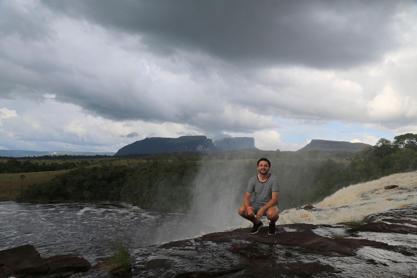 Daniel with beautiful scenery in Venezuela